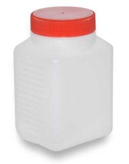 Kunststofflasche Weithals 500 ml weiss mit rotem Deckel