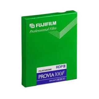 """Fuji Fujichrome Provia 100 F (MHD 08/19) Planfilm 10,2x12,7cm (4x5"""") 20 Blatt"""