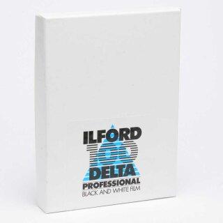 "Ilford S/W Film DELTA 100, Planfilm 10,2x12,7cm (4x5""), 25 Blatt"
