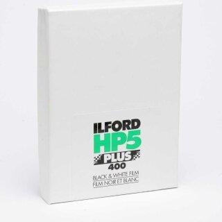 "Ilford S/W Film HP 5 Plus, Planfilm 10,2x12,7cm (4x5""), 25 Blatt"