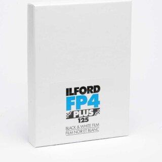 "Ilford S/W Film FP 4 Plus, Planfilm 20,3x25,4cm (8x10""), 25 Blatt"