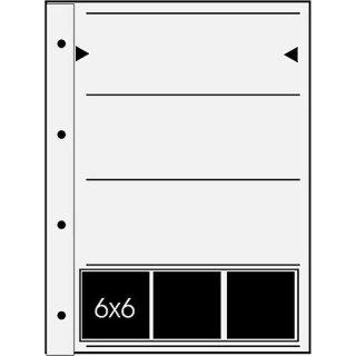 Negativ Ablageblätter für 60 mm Pergamin 4 Streifen a´3 6x6 / 6x7  100 Blatt