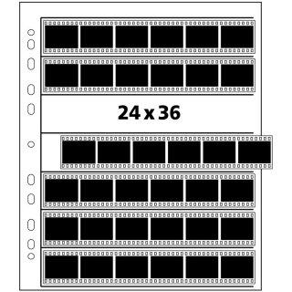 Negativhüllen aus Pergamin, 25 Blatt für 7 Streifen a`6 Negative 24x36 mm