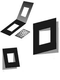 Klapp Passepartouts 100 Stück Innen 4,5x6 cm    Außen 13x18 cm