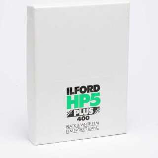 "Ilford S/W Film HP 5 Plus, Planfilm 20,3x25,4cm (8x10""), 25 Blatt"