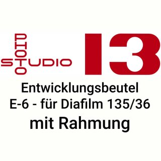 Dia Entwicklungsbeutel Studio 13 E-6 DIA Kleinbild mit Rahmung