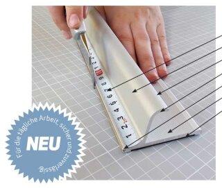 Profi Sicherheitslineal, Länge: 55 cm Aluminium mit Anti Rutschbelag