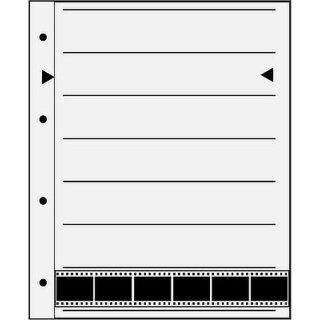 Negativ Ablageblätter Acetat/Acetat KB-Film 24x36mm, 7 Streifen, 100 Bl.