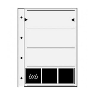 Ablageblätter Acetat/Acetat für 4 Filmstreifen 60 mm, 100 Blatt