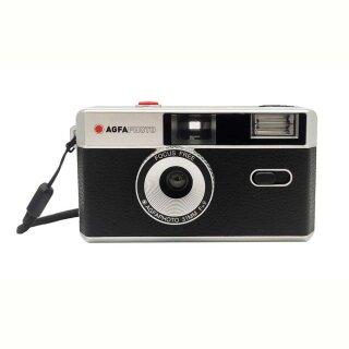 AgfaPhoto |analoge Kleinbildkamera 35 mm schwarz | mit Fixfocus Objektiv
