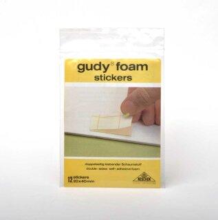 Gudy Foam Stickers 2X4 cm, 12 Stück - Klebepunkte