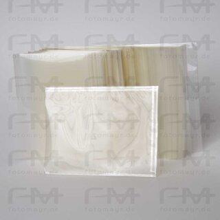 Acetat Schutzhülle 18x24 cm /100 Stück - 3-seitig gebordet