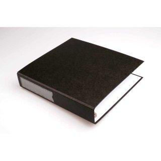 Ordner für 200 Negativblätter, schwarz überbreiter Ordner mit 4-Ring Mechanik