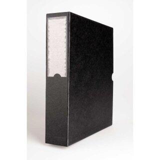 Staubschutzbox für DIN A4 Negativ Ordner schwarz (T:29 cm, B:6 cm, H:32 cm)