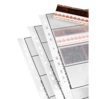 Negativ Ablageblätter Pergamin, 25 Blatt für 4 Streifen a` 3 Negative 60x60 mm