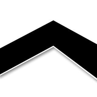MountBoard / Passepartout Karton Black (smooth), 40x50 cm, 5 Blatt