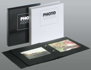 Photo Album 23x24 cm schwarz incl. 10 Blätter (max. 25 Blätter)