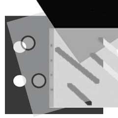Ergänzungsblatt 43x61 cm 10 Blatt weiss